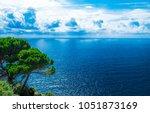 beautiful shore of the adriatic ...   Shutterstock . vector #1051873169