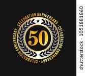 50 years of celebrations design ... | Shutterstock .eps vector #1051881860
