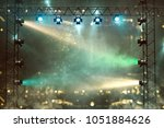 stage with lightshow  3d... | Shutterstock . vector #1051884626