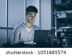 engineering student working at... | Shutterstock . vector #1051885574