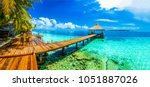 Maldives beach resort panoramic landscape