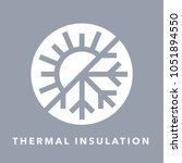 thermal insulation icon with...   Shutterstock .eps vector #1051894550