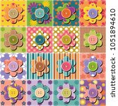 patchwork background with... | Shutterstock .eps vector #1051894610