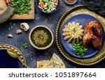 arabic cuisine  egyptian dish... | Shutterstock . vector #1051897664