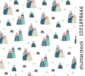 vector mountains seamless... | Shutterstock .eps vector #1051898666