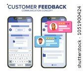 customer feedback rating vector.... | Shutterstock .eps vector #1051900424