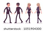 secret agent man and woman ... | Shutterstock .eps vector #1051904300