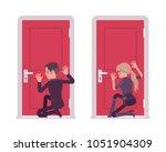 secret agent man  woman ... | Shutterstock .eps vector #1051904309