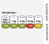 nutrition facts information...   Shutterstock .eps vector #1051905470