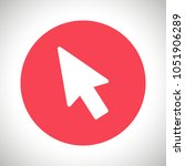 mouse cursor vector icon  arrow ... | Shutterstock .eps vector #1051906289