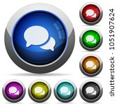 discussion icons in round... | Shutterstock .eps vector #1051907624