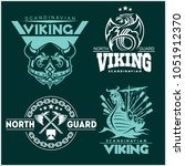 set of viking emblems  labels... | Shutterstock .eps vector #1051912370