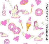 seamless pattern with cute... | Shutterstock .eps vector #1051913939