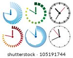 clock icons set | Shutterstock .eps vector #105191744