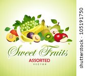 sweet fruits. assorted | Shutterstock .eps vector #105191750