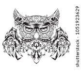 robotic owl  mechanical owl ... | Shutterstock .eps vector #1051923629