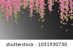 vector floral background. pink... | Shutterstock .eps vector #1051930730