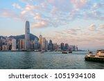 hong kong cityscape in the... | Shutterstock . vector #1051934108