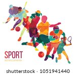 color sport background.... | Shutterstock .eps vector #1051941440