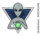 alien. cartoon alien. grey...   Shutterstock .eps vector #1051941446