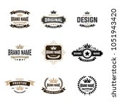 retro vintage insignias or... | Shutterstock .eps vector #1051943420