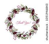 handdrawn wreath made in vector.... | Shutterstock .eps vector #1051946843