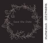 handdrawn wreath made in vector....   Shutterstock .eps vector #1051946846