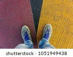 reaching a crossroads having to ...   Shutterstock . vector #1051949438