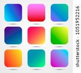 9 app icons gradient...   Shutterstock .eps vector #1051952216