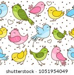 seamless pattern with cute... | Shutterstock .eps vector #1051954049