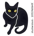 black cat icon | Shutterstock .eps vector #1051960649