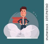 confident businessman   super... | Shutterstock .eps vector #1051965560