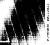 grunge halftone black and white ... | Shutterstock .eps vector #1051965686