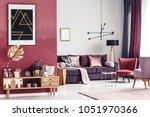 gold leaf on wooden cupboard...   Shutterstock . vector #1051970366