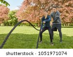 battle rope with personal... | Shutterstock . vector #1051971074