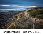 path along the coast of cayola... | Shutterstock . vector #1051972418