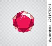 vector elegant sparkling gem.... | Shutterstock .eps vector #1051975043