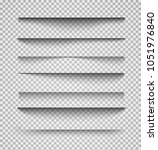 vector shadows isolated. page... | Shutterstock .eps vector #1051976840