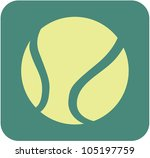 creative tennis ball icon | Shutterstock .eps vector #105197759