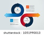 two circle arrows in opposite... | Shutterstock .eps vector #1051990013