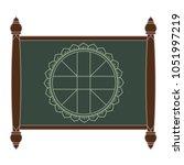 wheel chart for thai astrology... | Shutterstock .eps vector #1051997219