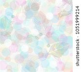 pastel color leaves pattern... | Shutterstock .eps vector #1051999214