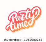 party time banner. vector... | Shutterstock .eps vector #1052000168