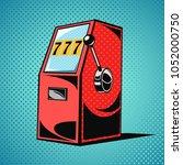 slot machine. one armed bandit...   Shutterstock .eps vector #1052000750