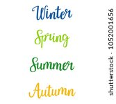 handwritten lettering   winter  ... | Shutterstock .eps vector #1052001656