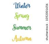 handwritten lettering   winter  ... | Shutterstock .eps vector #1052001656