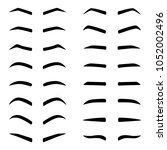 set of designes of eyebrows ... | Shutterstock .eps vector #1052002496
