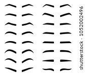 set of designes of eyebrows ... | Shutterstock .eps vector #1052002496