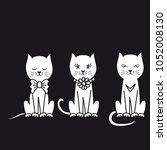 creative funny cat illustration | Shutterstock .eps vector #1052008130