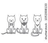 creative funny cat illustration | Shutterstock .eps vector #1052008133